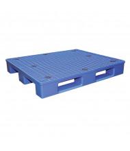 """Vestil 48"""" W x 40"""" L 4400 lb Capacity Plastic Pallet, Blue"""