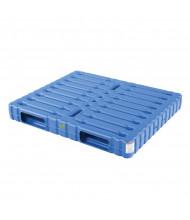 "Vestil 48"" W x 40"" L 8800 lb Capacity Solid Top/Bottom Plastic Pallet/Skid"