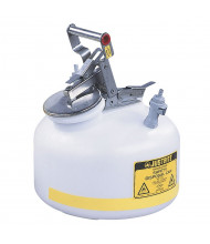 "Justrite PP12752 Polyethylene 2 Gallon Disposal Safety Can, 3/8"" Poly Fitting"