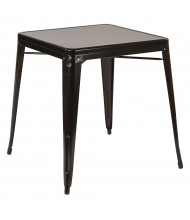 """Office Star 28"""" Square Metal Table"""