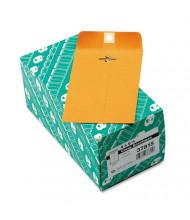 "Quality Park 4"" x 6-3/8"" #15 Clasp Envelope, Brown Kraft, 100/Box"