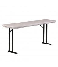 "Correll Heavy-Duty 72"" W x 18"" D x 29"" H Rectangular Folding Table (Shown in Granite)"