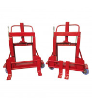 Rol-A-Lift 2000 lb Load Wide Machinery Movers, Pair (Shown with Polyurethane Wheels)