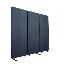 "Luxor RECLAIM 24"" W x 66"" H Acoustic Fabric Room Divider, 3-Pack (Shown in Blue)"