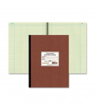 "National Brand 9-1/4"" X 11-3/4"" 75-Sheet Quadrille Rule Computation Notebook, Green Paper"