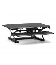 HON Coordinate Sit-Stand Converter Desk Riser (Shown in Black, Raised)