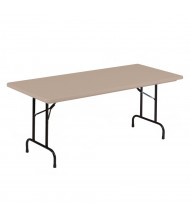 """Correll 60"""" W x 30"""" D x 29"""" H Rectangular Tamper-Resistant Folding Table (Shown in Mocha)"""