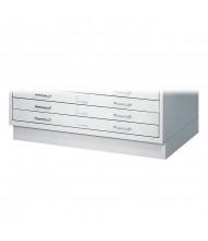 "Safco 4970LG Facil 4-3/4"" H Closed Base for Safco 4969LG Small Flat File (Light Grey)"