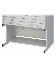 "Safco 4971LG Facil 20-1/2"" H Base for Safco 4969LG Small Flat File (Light Grey)"