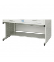 "Safco 4974LG Facil 20-3/4"" H Base for Safco 4972LG Medium Flat File (Light Grey)"