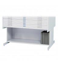 """Safco 4977 Open Base 20"""" H for Safco 4986 & 4996 Flat File(Shown in White)"""