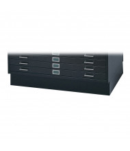 """Safco 4995 6"""" H Closed Base for Safco 4994 Flat File(Shown in Black)"""