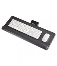 """Safco 17-3/4"""" Track Knob Adjustable Keyboard Platform, Black"""