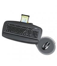 "Safco 21"" Track Adjustable Keyboard Platform with Swivel Mouse Tray, Black"