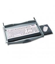 "Safco Premium 18"" Track Keyboard Drawer, Charcoal"