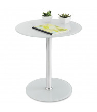 """Safco 17"""" Round Glass Accent Table"""