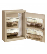 Buddy Products 60 Key Tag Slot Key Cabinet, Putty 0160-6