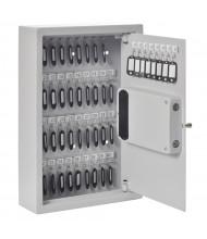 Buddy Products 48 Key Hook Electronic Lock Key Cabinet, Platinum