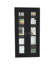 """Sandusky 36"""" W x 24"""" D x 72"""" H Expanded Metal Front Storage Cabinet, Assembled (Shown in Black)"""