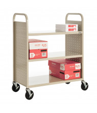 """Sandusky 39"""" W 3 Flat Shelf School Book Truck (Shown In Putty)"""