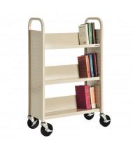 """Sandusky 32"""" W 3 Sloped-Shelf School Book Truck (Shown In Putty)"""