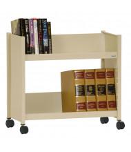 """Sandusky 29"""" W 2 Sloped-Shelf Booktruck (Shown In Putty)"""