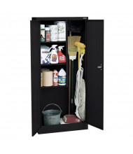 """Sandusky 30"""" W x 15"""" D x 66"""" H Janitorial Combination Storage Cabinet, Assembled (Shown in Black)"""