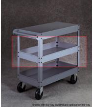 "Tennsco ST-24 Optional Center Tray for 24"" Wide Cart"