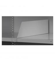Tennsco Adjustable Shelf Dividers for Q-Line Shelving Units (Shown in Light Grey)