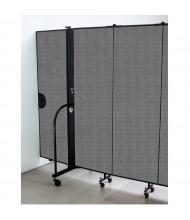 """Screenflex 96"""" H Door Panel for Room Dividers (Shown in Grey)"""