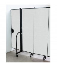 """Screenflex 48"""" H Door Panel for Room Dividers (Shown in White)"""