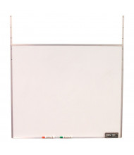 """Screenflex 42"""" W x 36"""" H Hanging Melamine Whiteboard for Room Dividers"""
