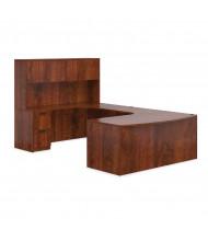 Offices to Go SL-D U-Shaped Office Desk Set (Shown in Dark Cherry)