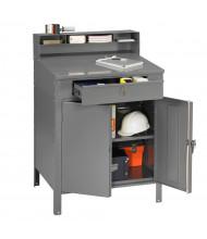 Tennsco Cabinet Foreman's Desk Workbench