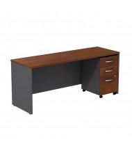 "Bush Series C SRC026 72"" W Straight Front Office Desk Credenza with Mobile Pedestal"