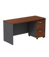 "Bush Series C SRC029 60"" W Straight Front Office Desk Credenza with Mobile Pedestal (Hansen Cherry / Graphite Grey)"