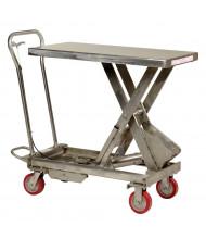 Vestil Stainless Steel 200 to 1000 lb Load Scissor Lift Tables