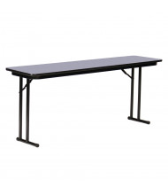 "Correll 96"" W x 24"" D x 29"" H Rectangular 0.75"" High Pressure Top Seminar Folding Table with Off-Set Leg (Shown in Granite)"
