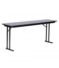 "Correll 60"" W x 24"" D x 29"" H Rectangular 0.75"" High Pressure Top Seminar Folding Table with Off-Set Leg (Shown in Granite)"