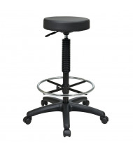 Office Star Work Smart Pneumatic Vinyl Seat Stool, Footring