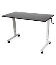 Luxor Height Adjustable Standing Desk, (Shown in Silver / Black)