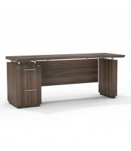"Mayline Sterling STC72F 72"" W Straight Front Pedestal Office Desk Credenza (brown sugar)"