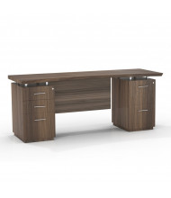 """Mayline Sterling STEC72BF 72"""" W Straight Front Double Pedestal Office Desk Credenza (brown sugar)"""