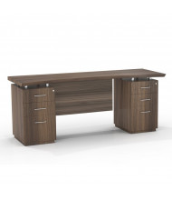 """Mayline Sterling STEC72B 72"""" W Straight Front Double Pedestal Office Desk Credenza (Shown in Brown)"""