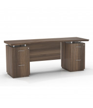 """Mayline Sterling STEC72F 72"""" W Straight Front Double Pedestal Office Desk Credenza (brown sugar)"""