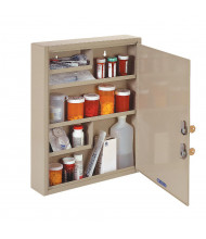 """SteelMaster Med-Master 8"""" W x 2.5"""" D x 12"""" H Compact Medical Storage Cabinet"""