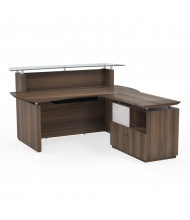"Mayline Sterling STG34 72"" W Reception Desk with Lateral File (Shown in Brown)"