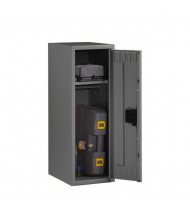 Tennsco Assembled Half-Height Single Tier Steel Lockers - Shown in Medium Grey without Legs