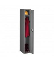 Tennsco Assembled Single Tier Steel Lockers without Legs - Shown in Medium Grey