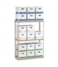 "Tennsco 60"" H 3-Shelf Record Archive Steel Open-Back Shelving Units"